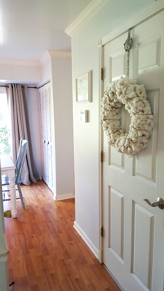 Cotton Wreath for fall