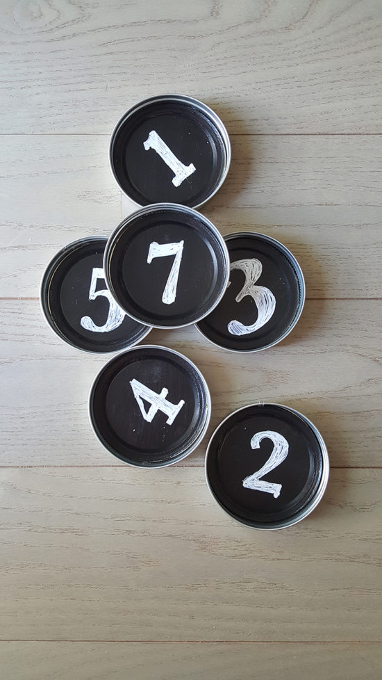 DIY Mason Jar Coasters with Chalkboard Paint theHoneycombHome.com
