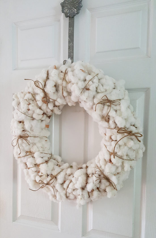Fall Decorating Cotton Wreath