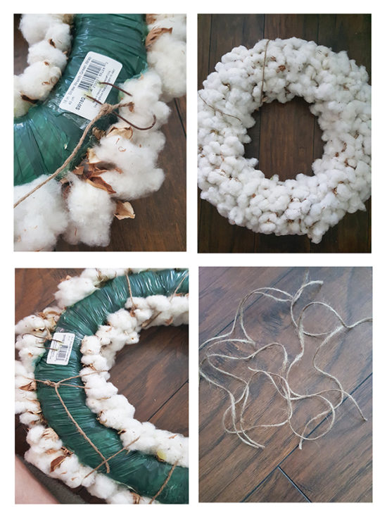 How to make a fall cotton wreath