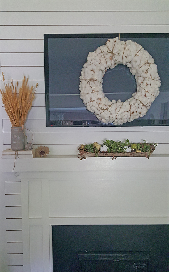 cotton wreath fall decorating ideas