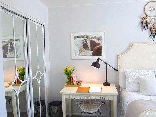 furniture arranging-desk next to bed