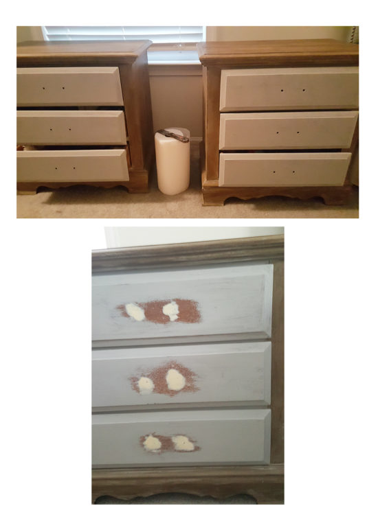 farmhouse night stand makeover