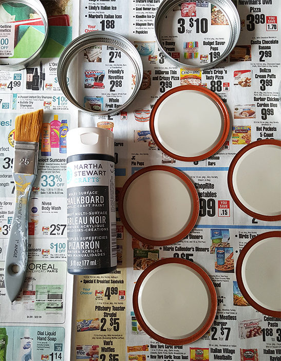 how to make mason jar coasters