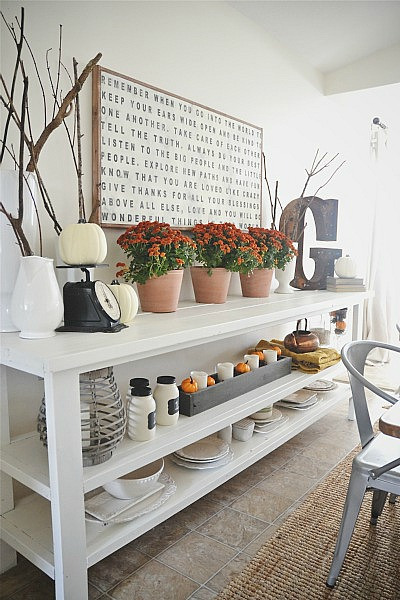 fall decor dining room liz marie blog