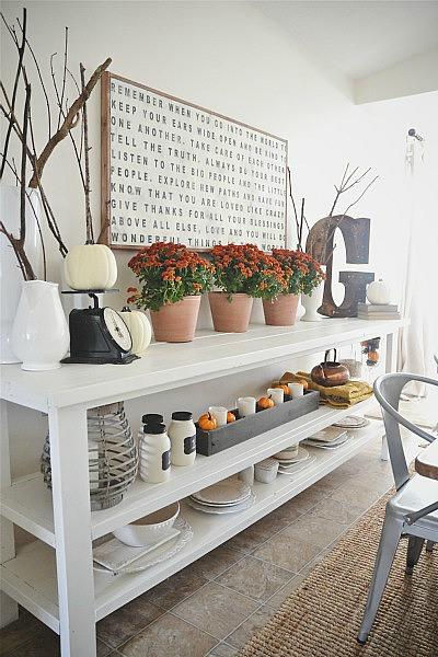 fall decor dining room liz marie blog