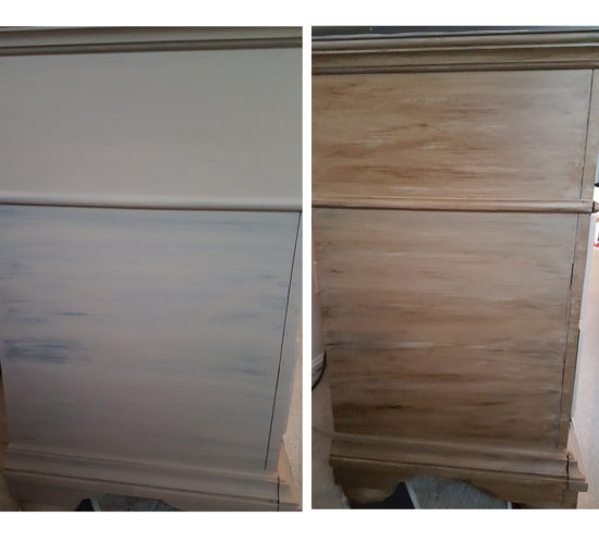 refinished dresser with chalk paint and dark wax