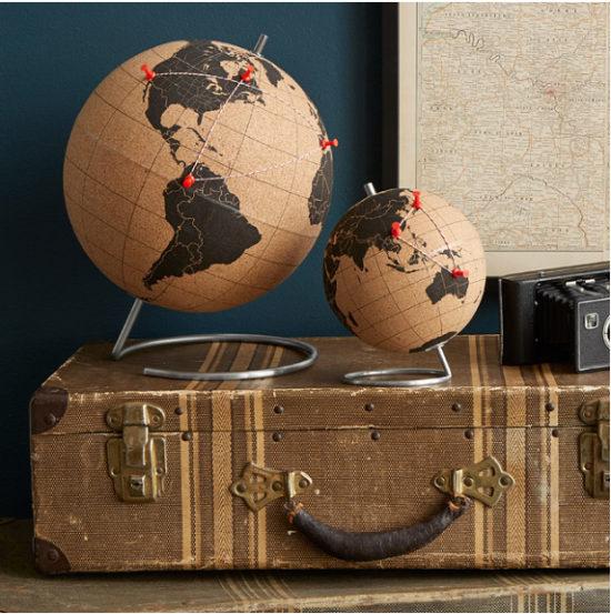 home decor ideas cork globe