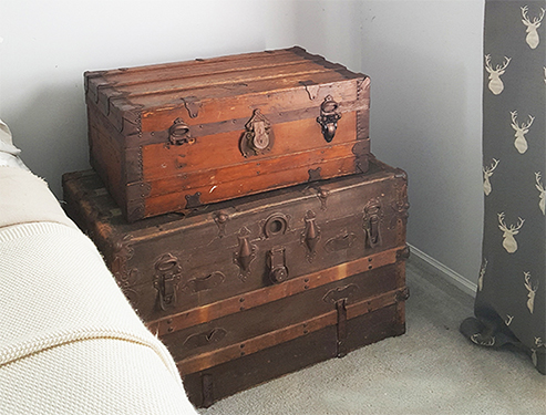 Decorating With Vintage Steamer Trunks