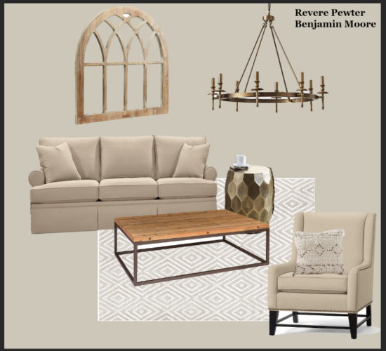 Rustic Living Room Simple Decorating Ideas