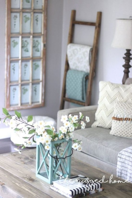 Decorating with ladders the honeycomb home for Cheap country decorations for the home