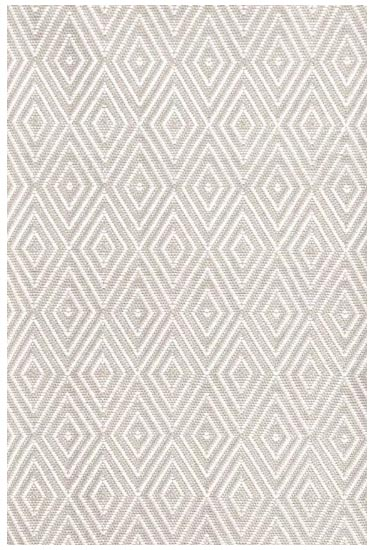 Beautiful neutral patterned diamond print rug