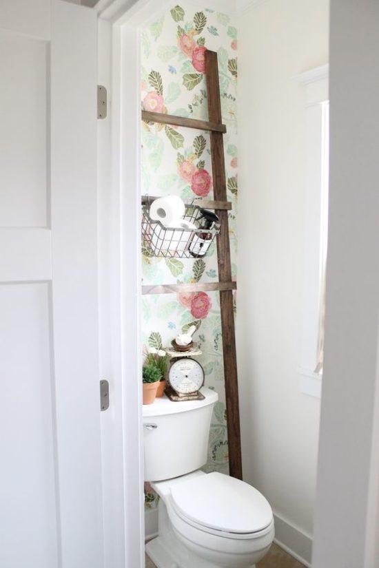 ladder bathroom shelf