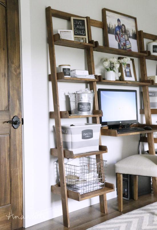 large diy ladder desk