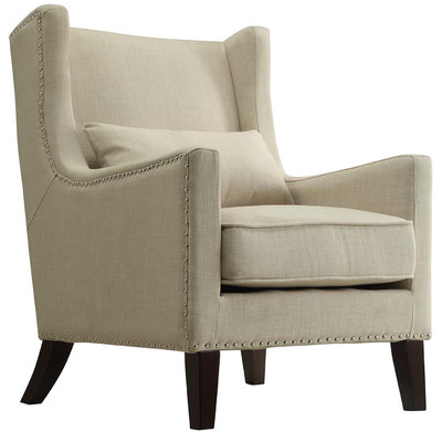 neutral wing chair decorating ideas