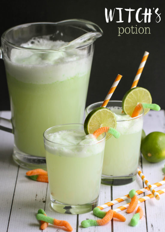 Halloween food and drink ideas, witches potion