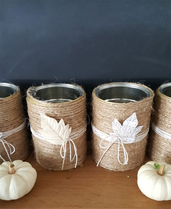 DIY Vases with jute