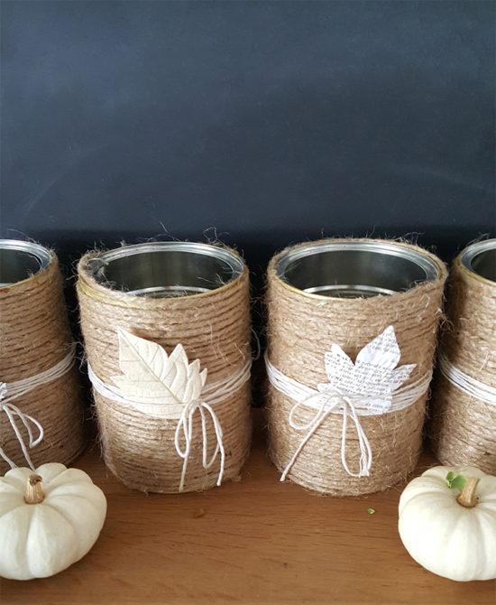 DIY Vases with jute