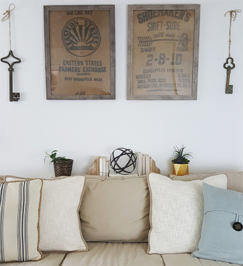 DIY Wall Art Ideas – Framed Burlap