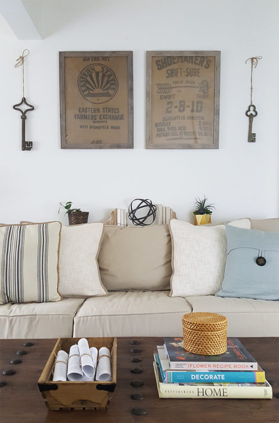 diy-wall-decor-ideas-framed-burlap-the-honeycomb-home