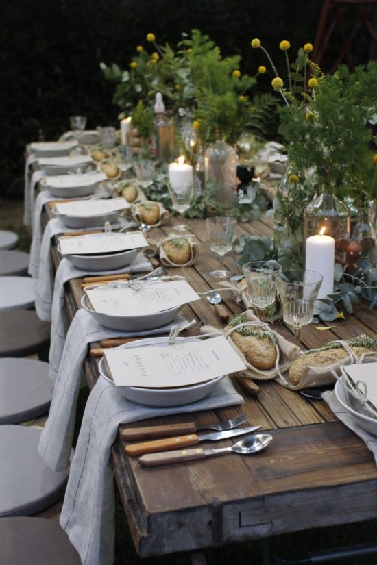 Garden Party Table Setting Elle Decoration