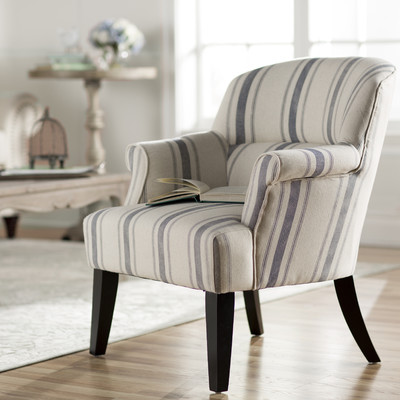 blue ticking stripe arm chair Where Can I Get Replacement Glass For My Coffee Table