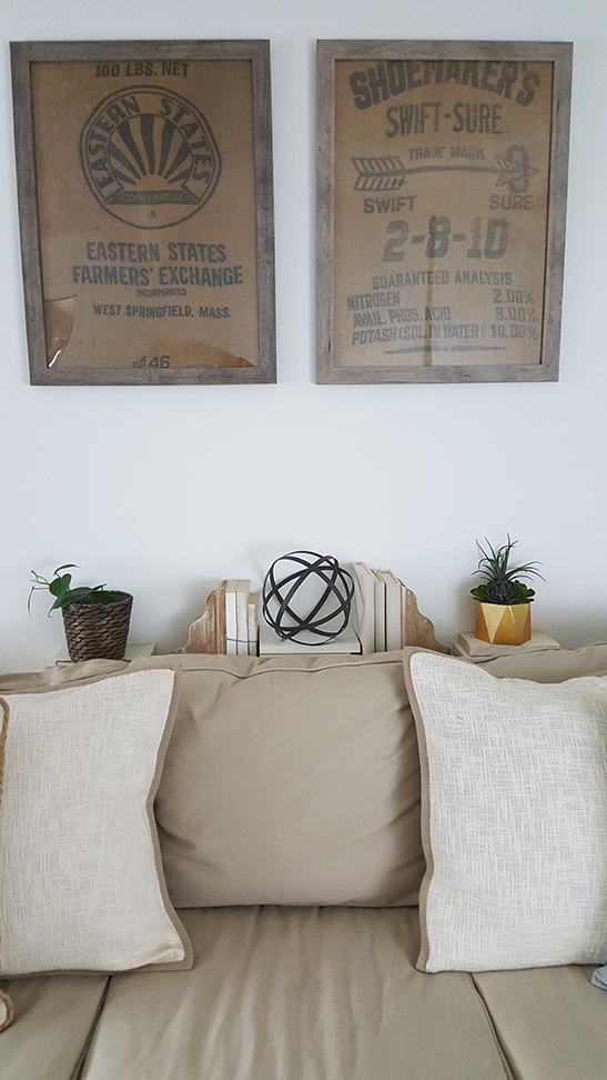 Diy Wall Art Ideas Framed Burlap The Honeycomb Home