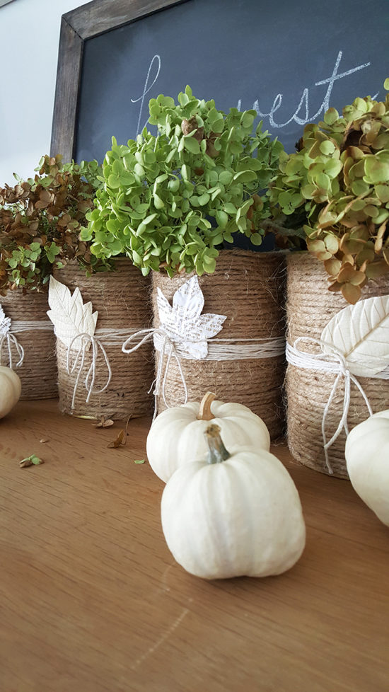 Dried Hydrangeas fall decorating ideas