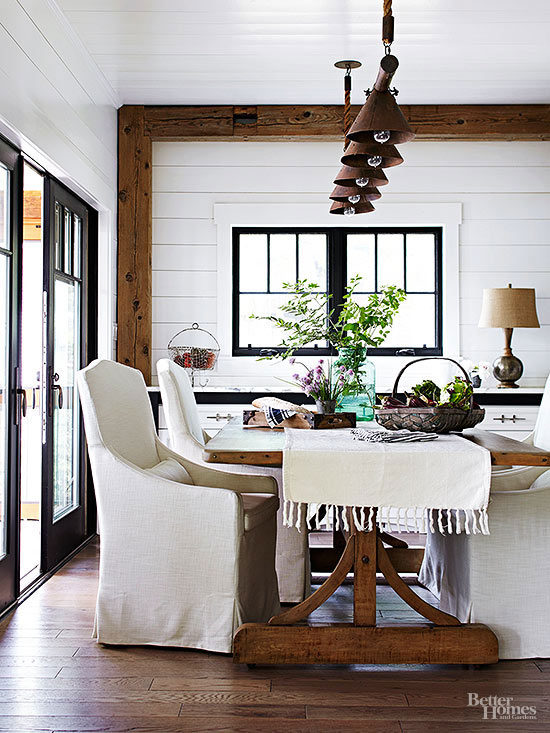 farmhouse-white-rustic-dining-rooms