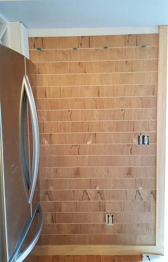 installing thin shiplap plankboard