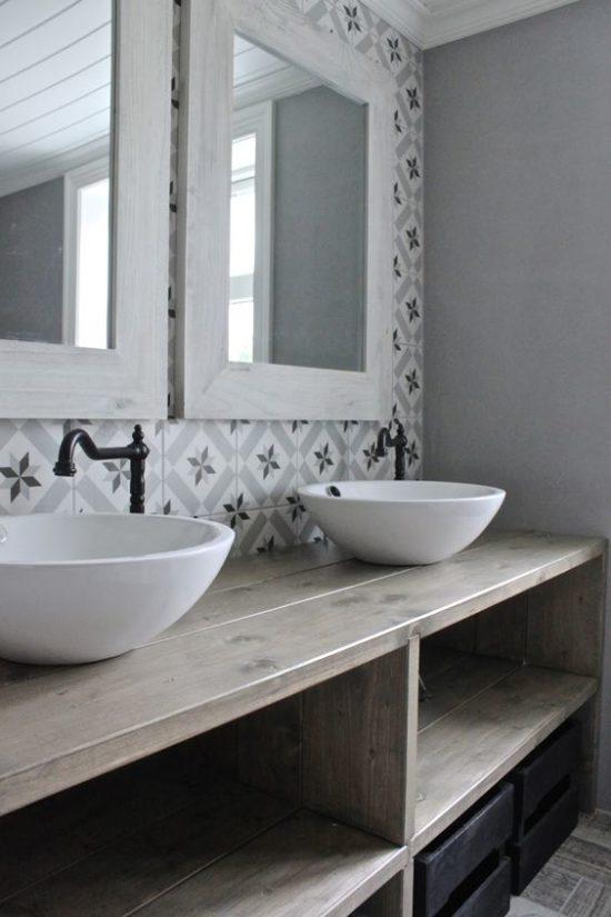 Pattern Wall Tiles Bathroom Ideas