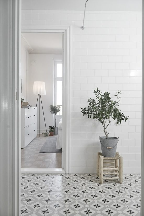 Cocoa Lapine Design Patterned Tile Floors