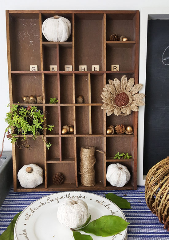 printers board fall decorating ideas