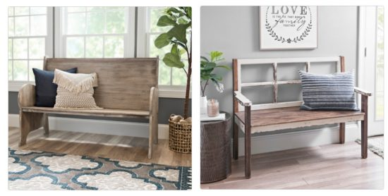 rustic benches get this look fixer upper