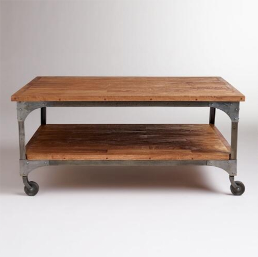 rustic-wood-and-metal-2-shelf-coffee-table-on-wheels