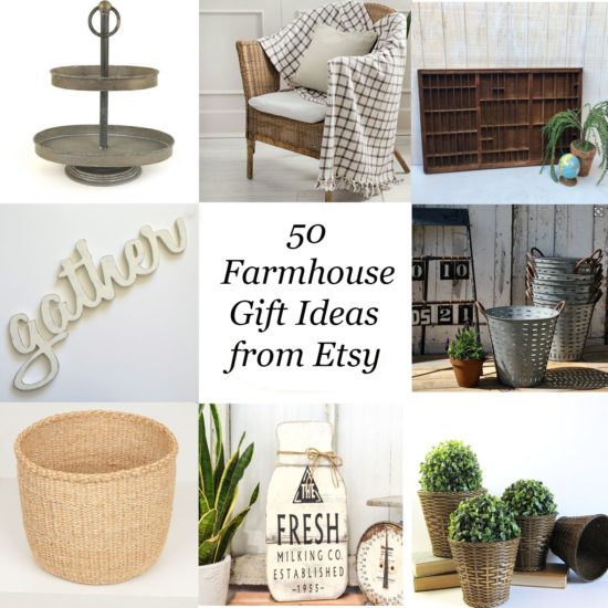 Gifts For A Farmhouse Decor Fan: 50 Farmhouse Style Gift Ideas From Etsy!