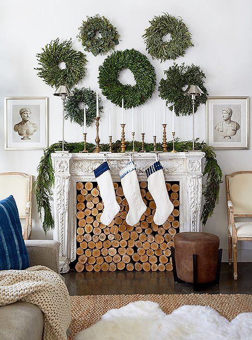 christmas-fireplace-filled-with-logs