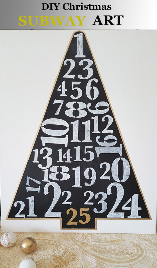 Easy DIY Chalkboard Christmas Tree Art