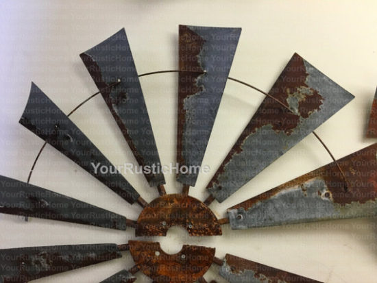 Decorative Metal Windmill Wall Decor from Etsy