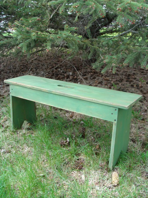 Farmhouse Wooden Bench in Green Gift ideas Etsy
