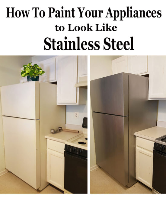 how to paint appliances stainless steel the honeycomb home. Black Bedroom Furniture Sets. Home Design Ideas