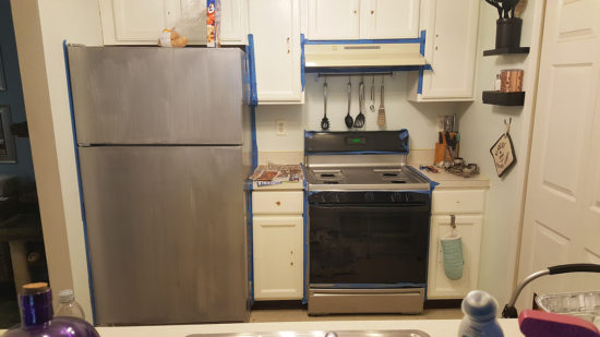 How To Paint Kitchen Appliances To Look Like Stainless Steel