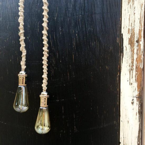 Macrame Lamp Cord Jute