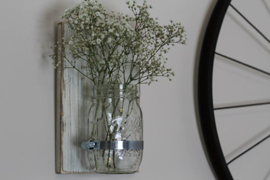 Mason Jar Sconce Farmhouse Style Gift Ideas from Etsy