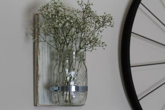 Mason Jar Sconce Farmhouse Style Gift Ideas from Etsy