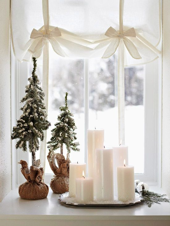 neutral christmas decorating ideas - Simple Christmas Decoration Ideas