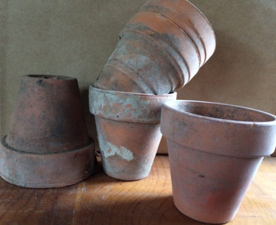 Vintage Weathered Terra Cotta Pots