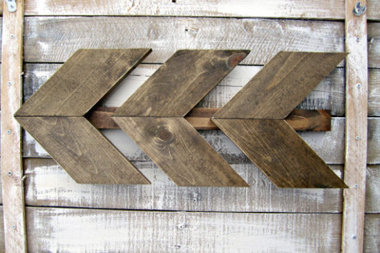 Wooden Wall Arrows