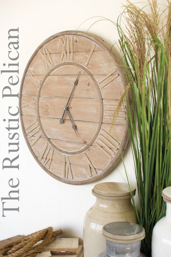 Farmhouse Pallet Clock Etsy Gift Ideas