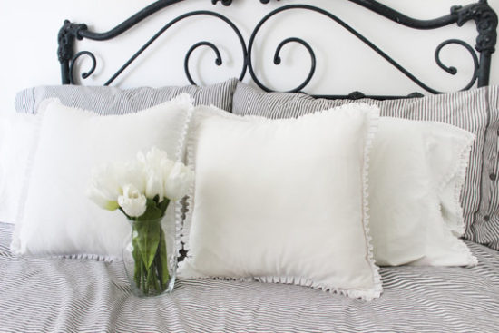 White Ruffled Pillow Covers Etsy